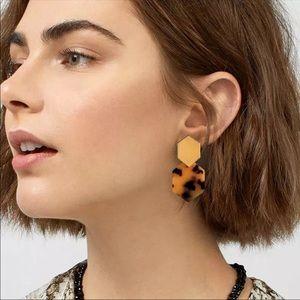 Trendy geometric polygon drop earrings